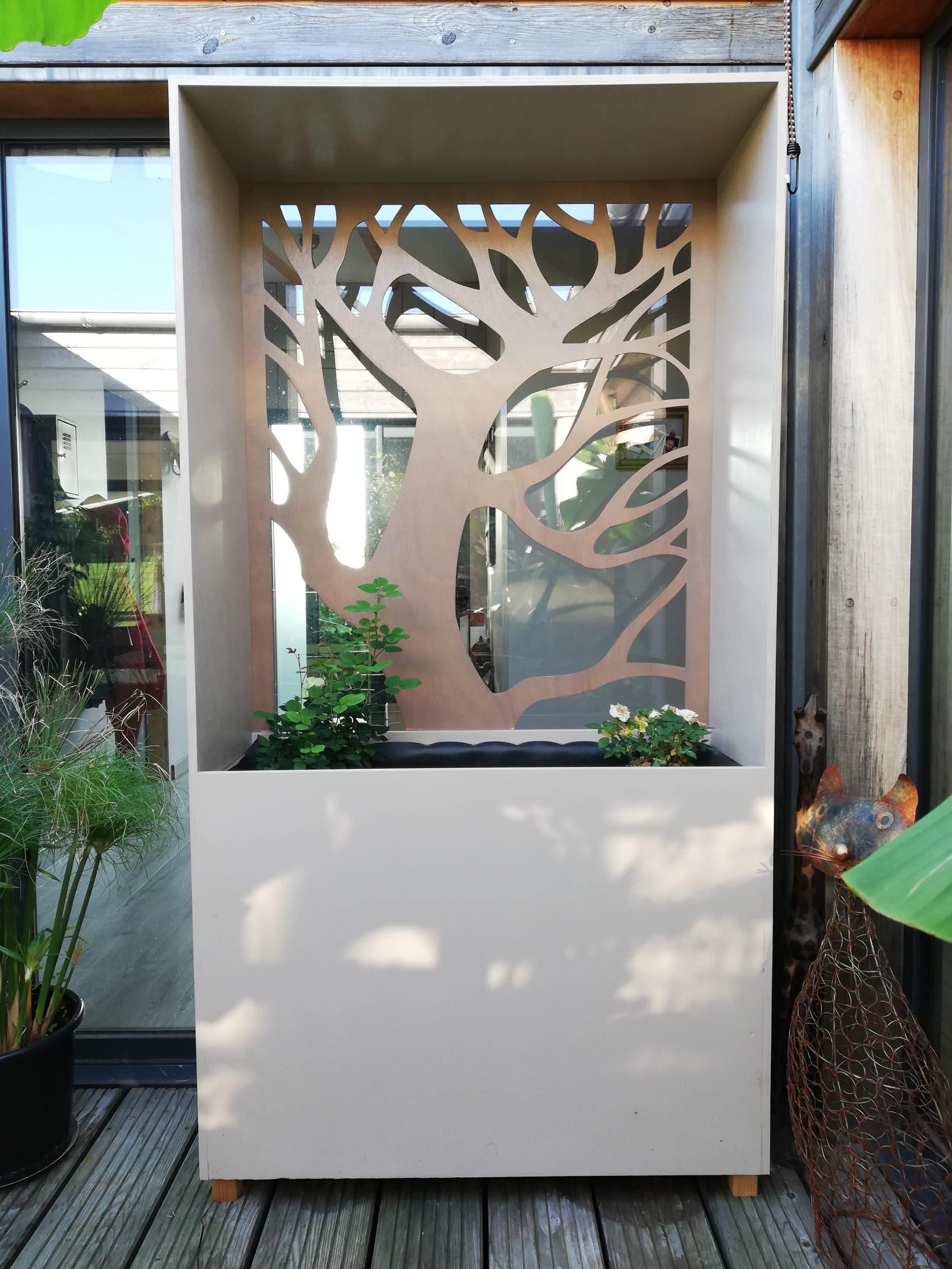 jardiniere en bois exterieur